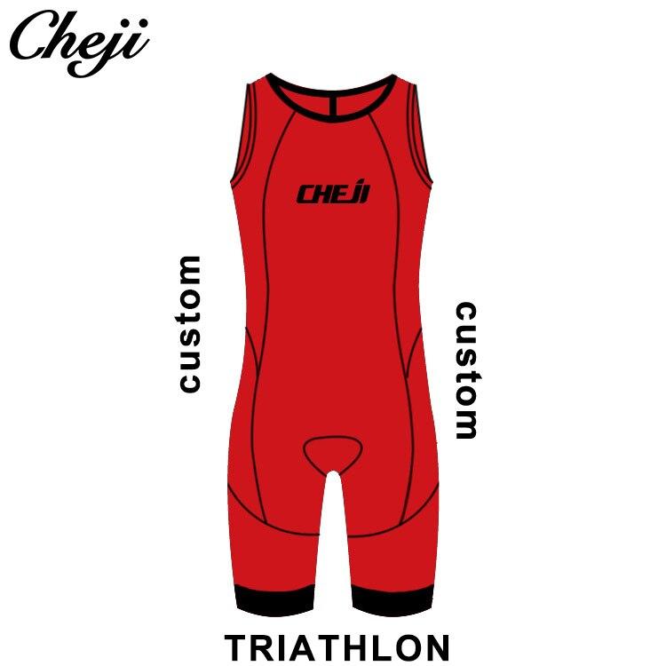 CHEJI usine directement en gros personnalisé hommes Triathlon costume pour courir nager cyclisme Compression porter Windcoat Windvest Skinsuit