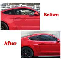A Pair Car Side Rear Window Quarter Louver Side Vent Deflector Scoop Cover For Ford For Mustang 2015 2017 2 Door For Coupe Model