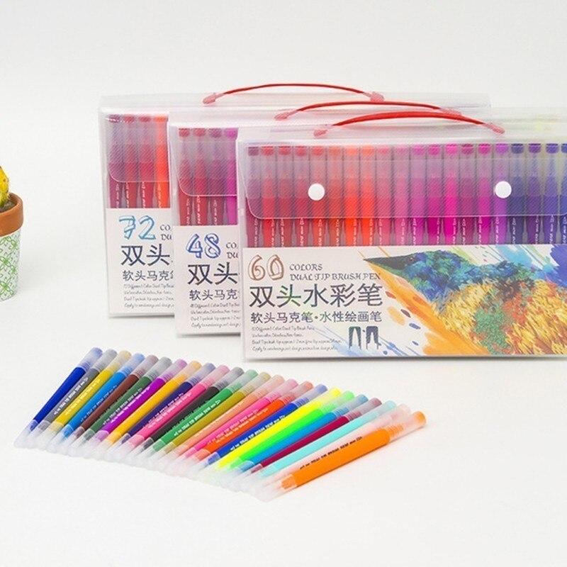 18/24/36/48/60/72/100PCS Colors FineLiner Drawing Pen Painting Watercolor Art Marker Pens Dual Tip Brush Pen School Art Supplies18/24/36/48/60/72/100PCS Colors FineLiner Drawing Pen Painting Watercolor Art Marker Pens Dual Tip Brush Pen School Art Supplies