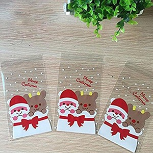 Image 5 - Best 100 Pcs Candy Bags Cute Sachet Bag Pattern of Santa Claus Bag Pouch for Candy Biscuit Chocolate Candy Sweets Candy Gift B