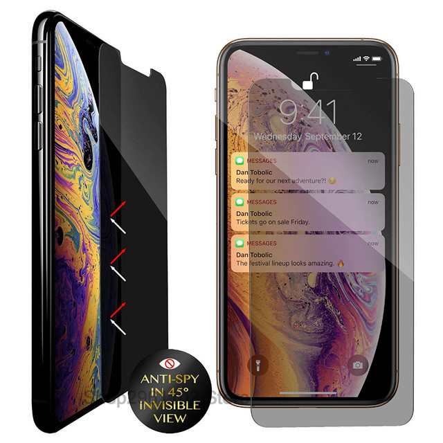 privacy screen protector for iphone xs glass for Apple i