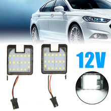 For Ford Mondeo MK4 IV 2007-2014 2pcs LED Canbus Side Mirror Puddle Light Super White Car Signal Lamp 12V Mayitr