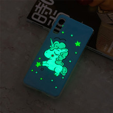 купить For Samsung Galaxy A7 2018 Case Cute Unicorn Luminous Glow in the Dark Soft TPU Case For Samsung A7 2018 A750 Funda Silicone по цене 116.58 рублей