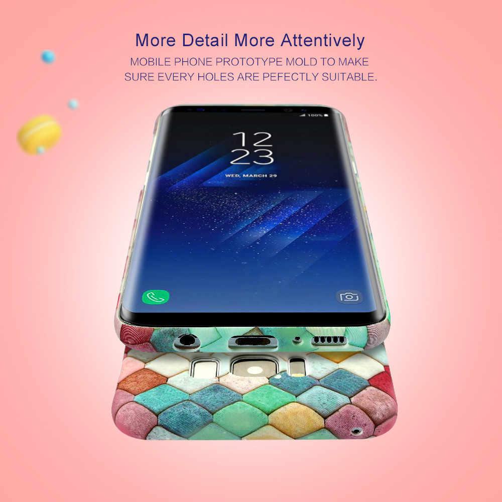 Светящийся чехол KISSCASE для samsung Galaxy Note 8 9 S9 S8 Plus, цветной жесткий чехол для телефона samsung A3 A5 2017 S7 Edge Fundas