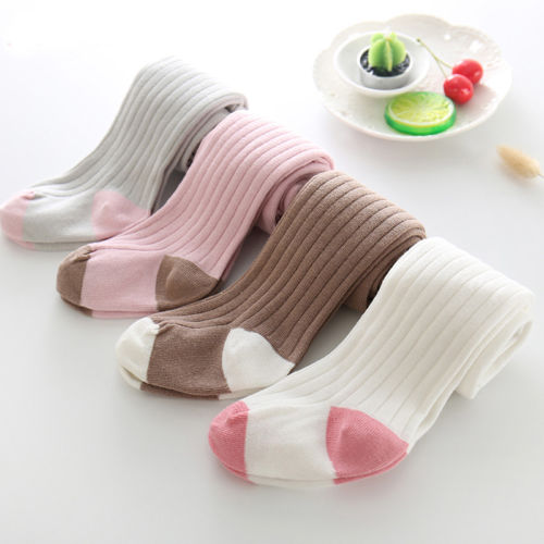 Newborn Toddler Kids Baby Girl Knee High Cotton Long Stockings Tights Pantyhose Girls Princess Stretch Soft Stockings 0-6Y