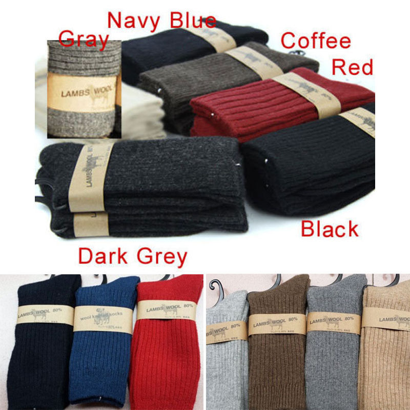 Hirigin New Hot Men's Wool Boot Winter Socks Thermal Warmth Winter Work Walking Thick Socks