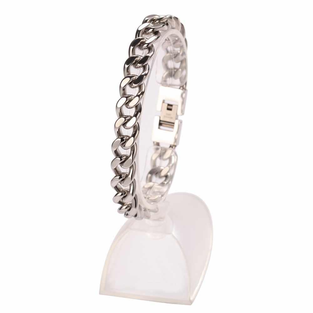 UWIN 11mm szerokość kubański ze stali nierdzewnej Link bransoletki dla mężczyzn najwyższej jakości mody Hiphop bransoletka biżuteria hurtowych Drop Shipping