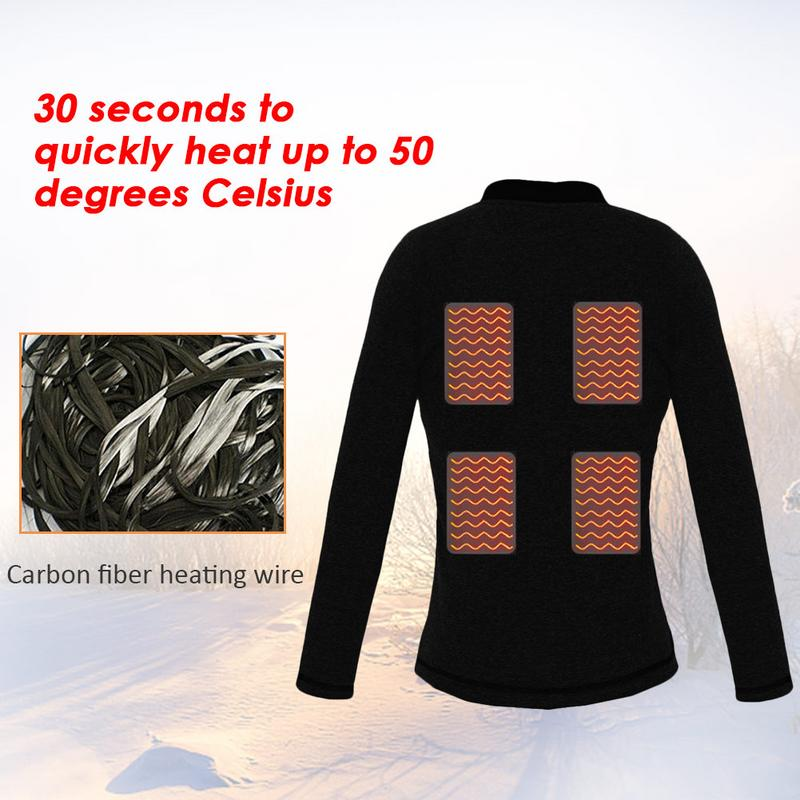 Top Vest Shirt Jacket Thermal-Underwear Electric-Heating-Clothes Heated Usb-Heating Women