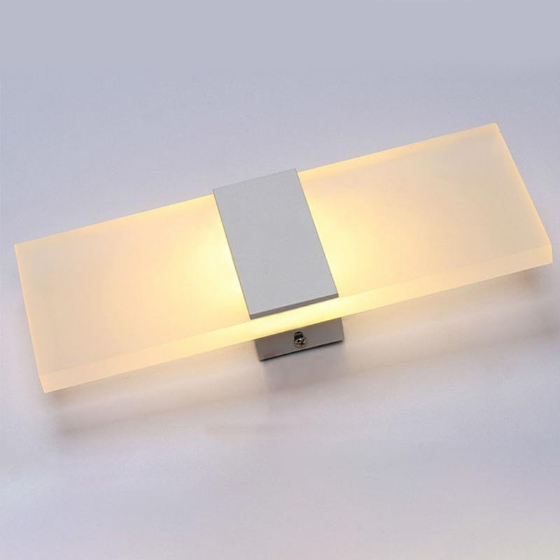 LED acrylic Wall Lamp Originality Concise Bedroom Bedside Living Room Restaurant Hotel Study Corridor Aisle Lamp