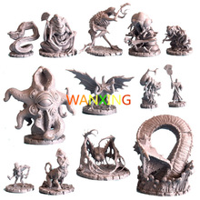 1/72 Scale Model Dragon And Dungeon Series Cthulhu Wars Role Playing DND Miniatures Resin Figure DIY Toys Hobby Tools 10 pieces plastic model kit 1 72 dungeons and dragons dnd board game resin figure toys hobbies toys for children limited