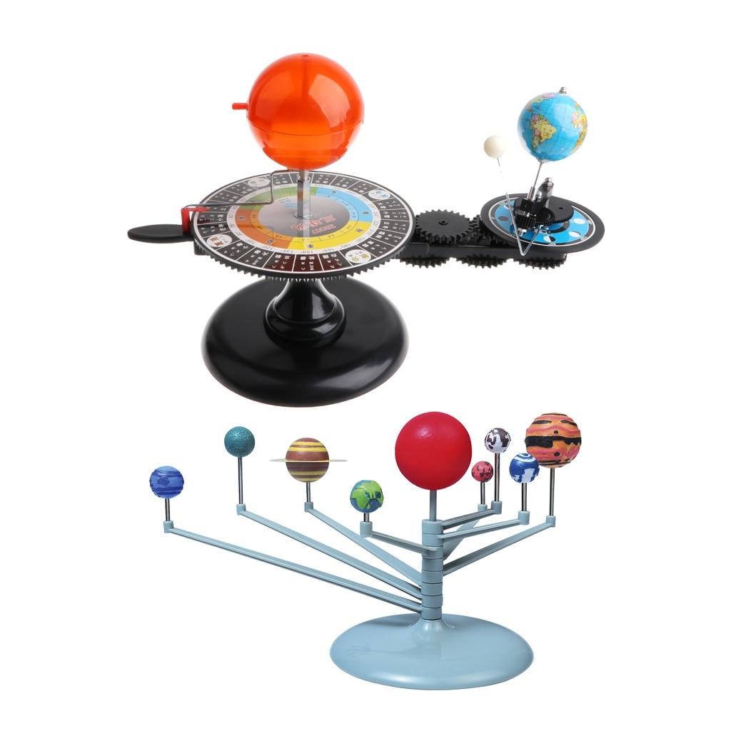 Sun Earth Moon modèle Orbital + système solaire planétarium modèle Science bricolage projet cadeau d'anniversaire pour enfants enfants étudiant - 2