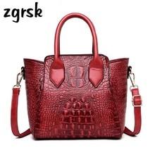 Women Crocodile Handbag Crossbody Bags Designer For Leather Luxury Handbags Alligator Tote Shoulder Bag