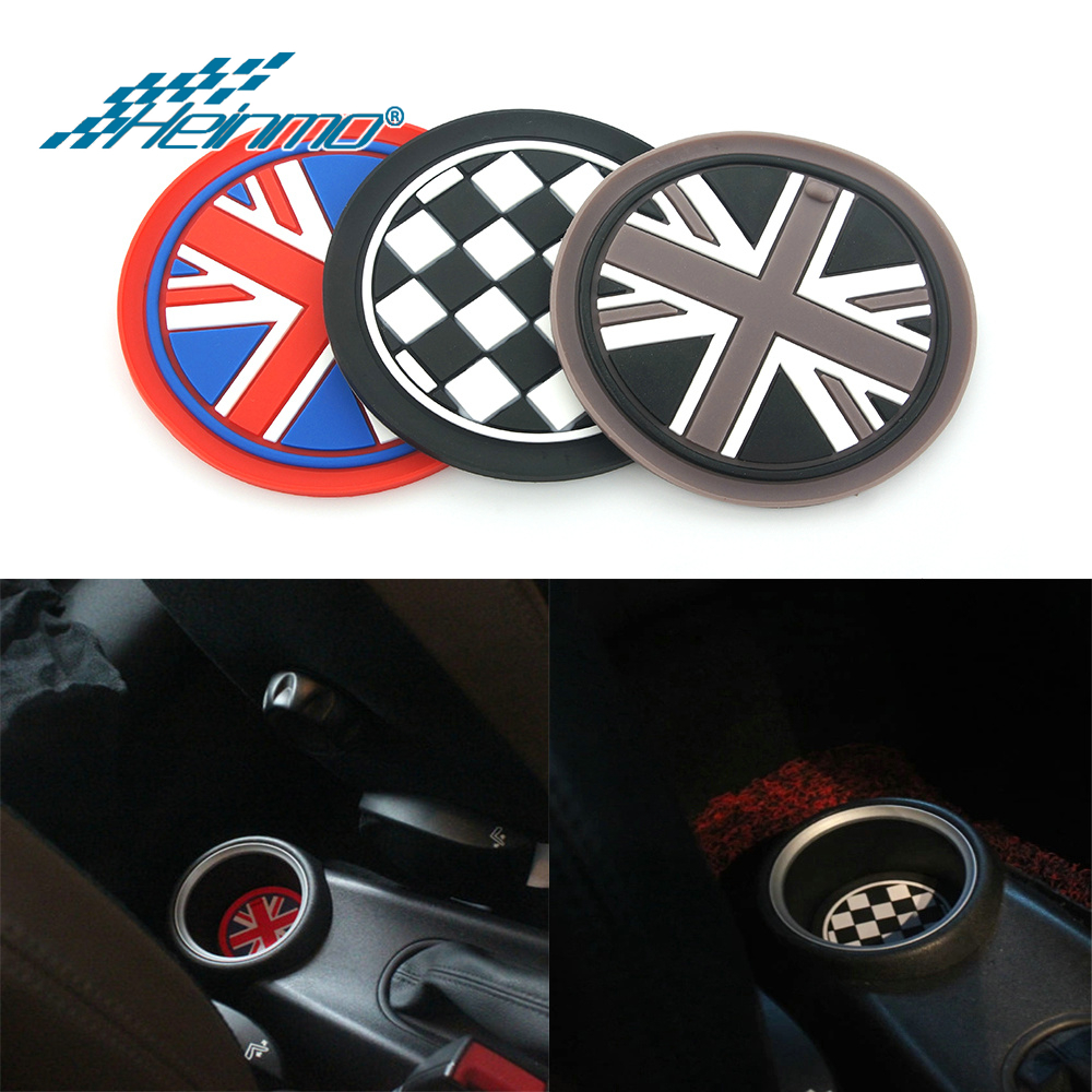 For MINI Cooper S One JCW Countryman Clubman R50 R53 R55 R56 R60 F54 F55 F56 F60 Car Accessories Sticker Water Cup Holder Mat