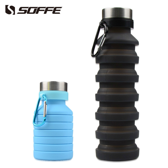 e0b6f847a0 Soffe 550ml Silicone Foldable Collapsible Water Bottle Shaker Protein Bpa  Free Portable Sport Water Bottles Outdoor Climbing Mug