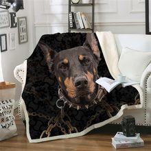 Коллекция 3D домашних животных, шерпа, одеяло, 3d Животные, мопс, плюшевое одеяло, бульдог, Хаски, доберман, Ротвейлер, тонкое одеяло