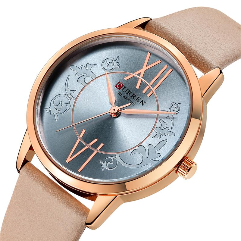 Watches Women 2019 <font><b>CURREN</b></font> Fashion Creative Analog Quartz Wrist Watch Reloj Mujer Casual Leather Ladies Clock Female Montre Femme image