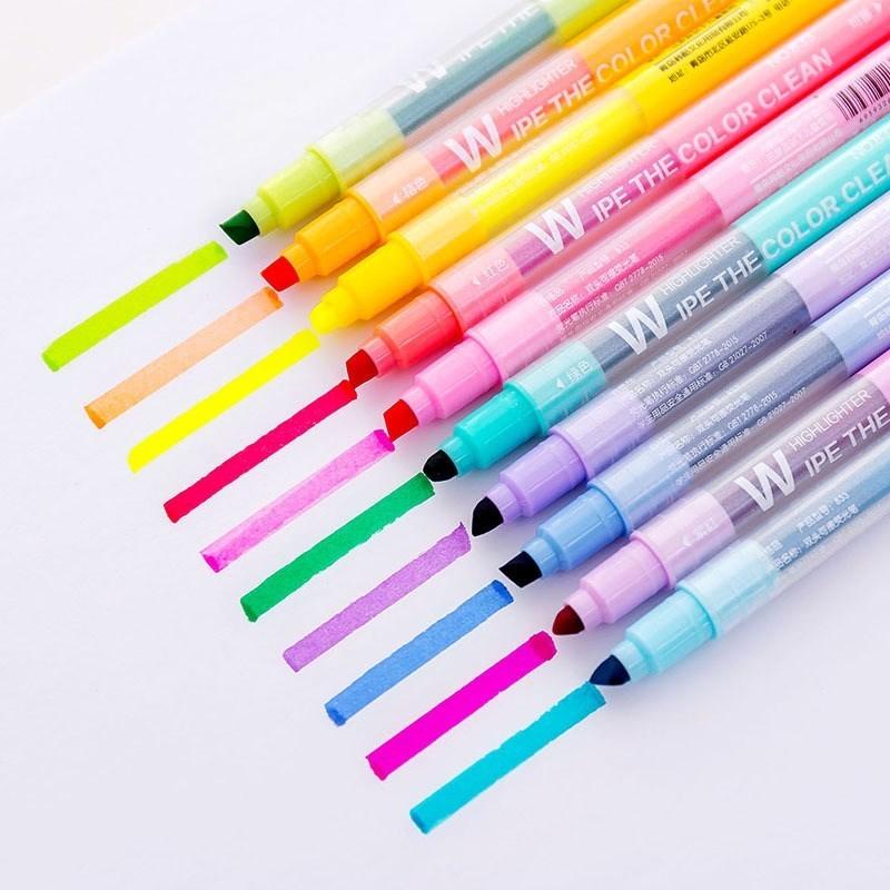 Multicolour Single/Double-end Highlighter Pen Markers Pastel Liquid Marker Fluorescent Highlighters Art School Supplies 04431