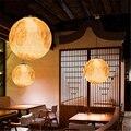 Moderne Harz Mond FÜHRTE Anhänger Lampe Ball Anhänger Lichter Schlafzimmer Wohnzimmer Esszimmer Decor Hängen Lichter Beleuchtung Küche Leuchten-in Pendelleuchten aus Licht & Beleuchtung bei