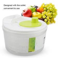 Multifunctional Salad Dryer Vegetable Fruit Drain basket Dehydrator Shake Water Basket Kitchen Salad Tool New(China)