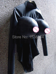 Latex Catsuit Rubber Swimsuit WITH inflatable BREAST customized
