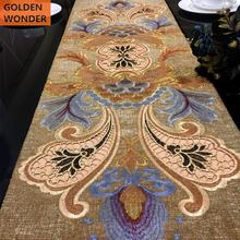 Modern Luxury Simple Table Runner Chenille Embroidery European style Runners