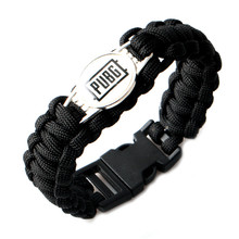 DOITOP TOP Games Accessories Braided Bracelet For PUBG Mobile Game Fashion Souvenir Bracelets For Men Women PUBG Logo Bracelet