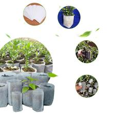 100pcs Biodegradable Non-woven Nursery Bag Plant Grow Bags Seedling Pots for Home Gardenging Gaeden Accs