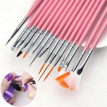 15pcs Nail Art Brush Pen Decorations Set Tools Professional Painting DIY Tool Kit For Engraving Embossing