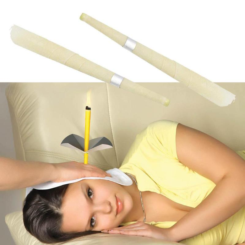 2pcs Ear Candle Therapy Coning Beewax Ear Candling Natural Candling Therapy Body SPA Ear Nursing Tool Aromatherapy