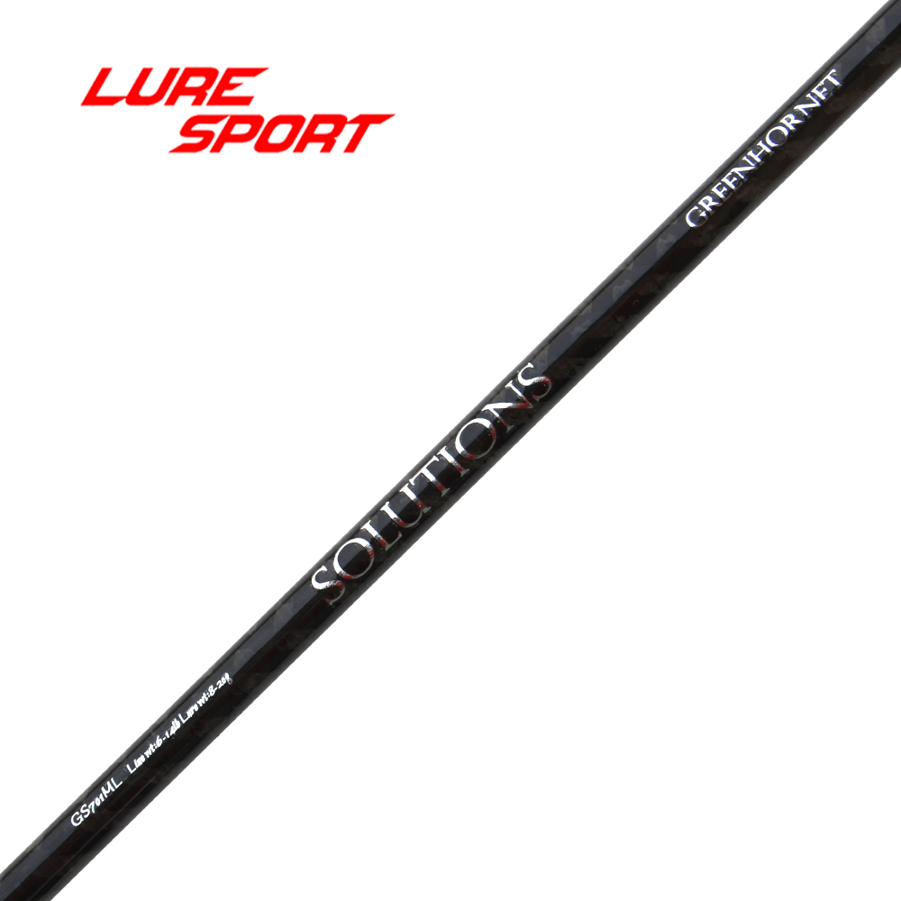 LureSport 2pcs 2 08m 1 section ML blank 40T X cross carbon Rod Building component Pole