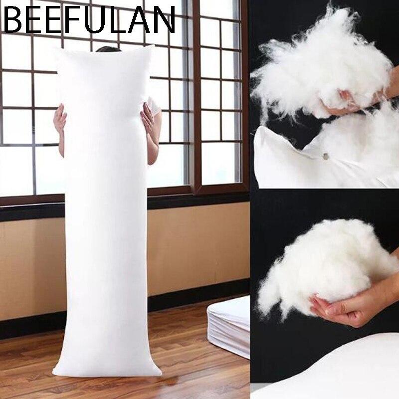 Blanc Pad Rectangle sommeil sieste oreiller chambre literie accessoires étreinte oreiller intérieur corps coussin 150x50 CM Collectibles