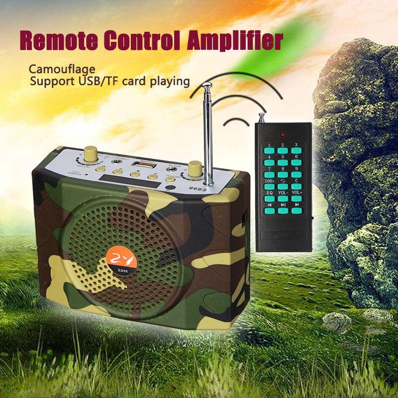 38 W sonido portátil de Control remoto inalámbrico amplificador enseñanza altavoz USB FM de Radio caza señuelos altavoz aves MP3