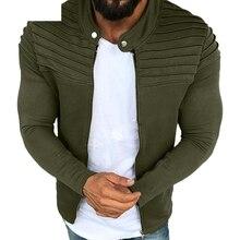 New  Men's  Jackets  Winter Pleats Slim Stripe Fit Raglan Zipper Long Sleeve Top Coat Leather Jacket Coat raglan sleeve botanical peplum top