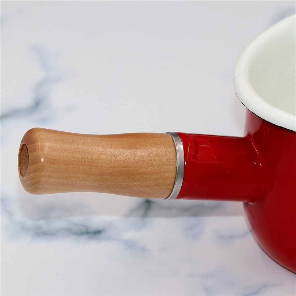 1 PC Nonstick เคลือบนมหม้อปฏิบัติ Butter กาแฟอุ่นนมขนาดเล็กหม้อครัวทำอาหารหม้อสำหรับก๋วยเตี๋ยวเด็กอาหาร