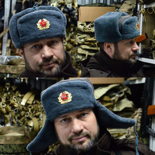c5d1a7dbcae 2019 New Authentic Russian Army Winter Ushanka Hat + Badge Red Star with  Hammer   Sickle-in Bomber Hats from Apparel Accessories on Aliexpress.com