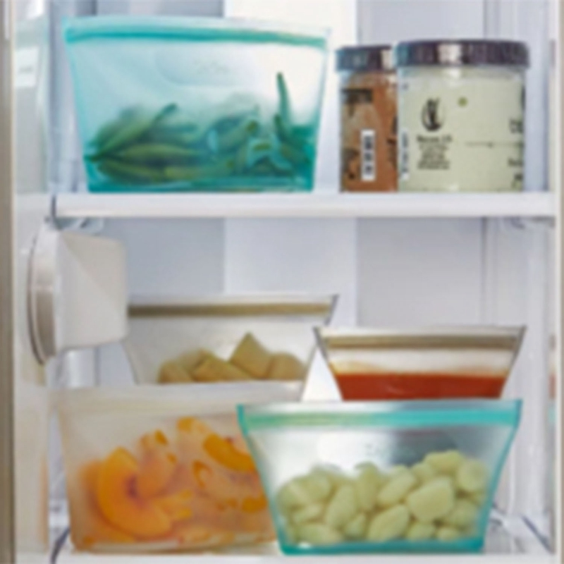 3 Pcs Silicone Food Storage Containers Zip Top Leakproof