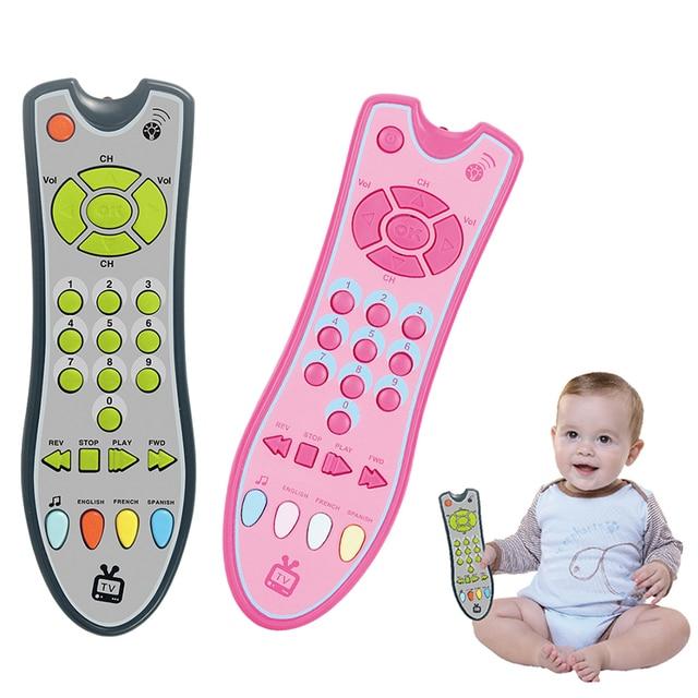 Téléphone télécommande Jouet Mobile TV  voiture clé début jouets éducatifs numéros électriques apprentissage Machine cadeaux pour nouveau-né 2