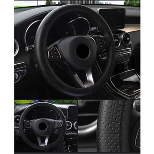 Car Steering Wheel Cover Universal for Ford Focus 2 Car Accessories Soft Faux Leather Car-styling DIY Car Steering-wheel Cover(China)