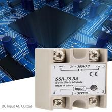 цена на DC-AC Solid State Relay SSR-75DA 75A 3-32VDC to 24-380VAC SSR voltage relay