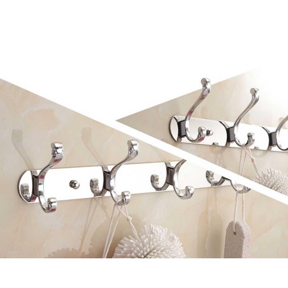 3 kołki drzwi powrót hak haczyk ścienny ze stali nierdzewnej wieszak na ubrania wieszak na ręczniki ze stali nierdzewnej stojak do kuchni łazienka (L003 #)