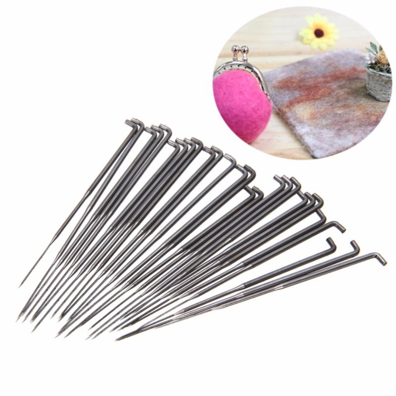 Best 10Pcs 3 Sizes Felting Needles Wool Felt Pocked Needles Set DIY Craft Felt Tools Beginners Kit