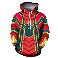 Anime Superhero Iron man batman hoodie 3D Hoodies Women Men The Hooded Sweatshirt Tracksuit coats Costumes jacket coat