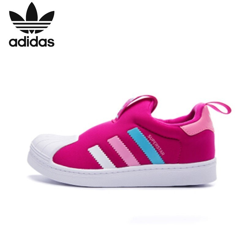 Adidas Clover Kid's Shoes Boys And Girls Children Non slip Wear resisting Causal Skateboarding Shoes BA8047 BA8046