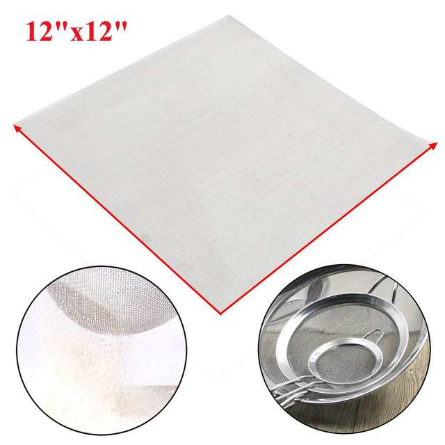 140 Mesh Filtration 110 Micron Stainless Steel Silver Woven Wire Cloth  Screen Dry Sift Sieve 12''x12'' For Industrial Tools