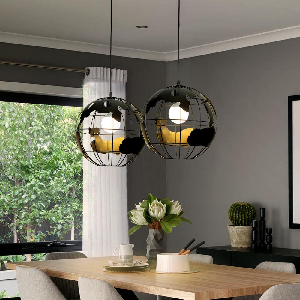Image 2 - ZHAOKE Modern Global Earth Pendant Lights suspension luminaire for Living Room Restaurant Home Lighting Fixtures pendant lamps-in Pendant Lights from Lights & Lighting