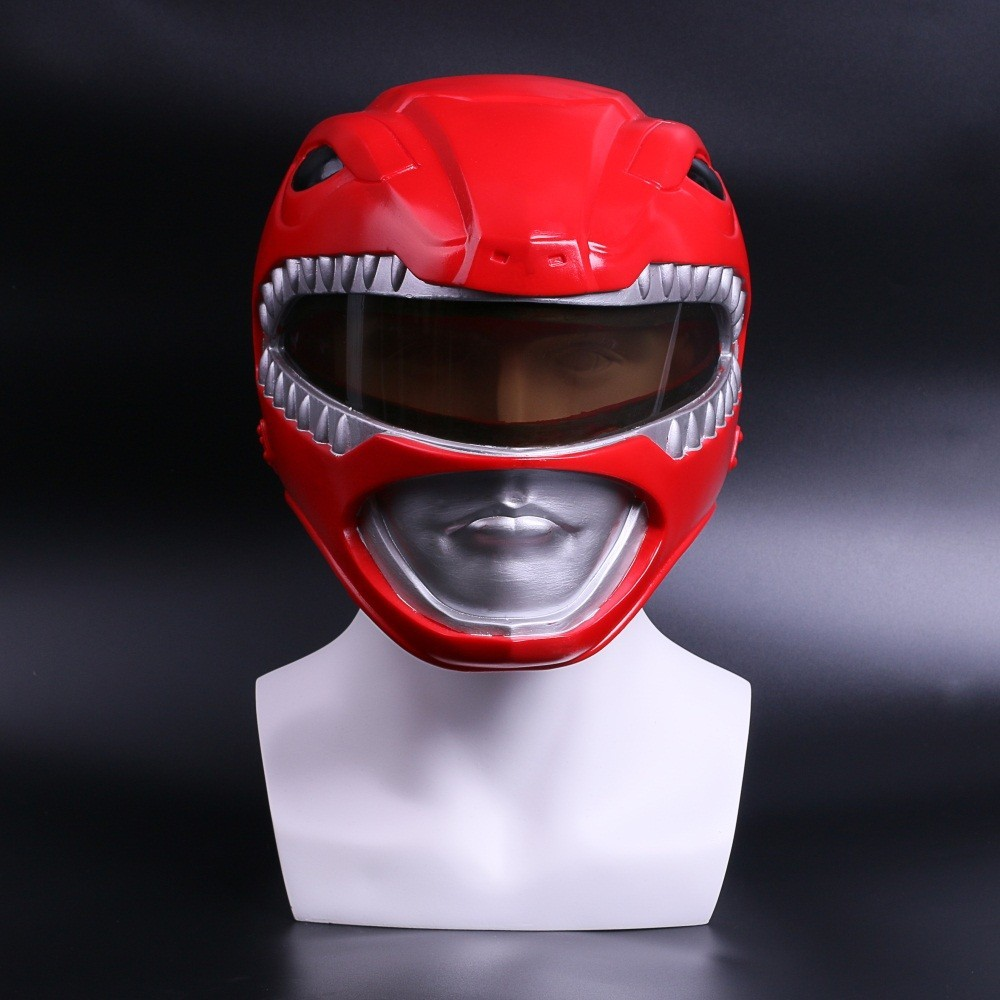 Zyuranger Cosplay casque rouge Rangers PVC masque héros Costume accessoires pleine tête masque Halloween carnaval accessoires casque masque rouge