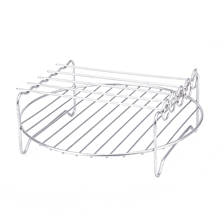 New Hot Double Layer Rack Accessory with 5 Skewers, for Airfryers