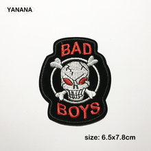 1 PCS Individuality  Punk rock Badges Embroidered Motif Applique Stickers Iron on for Jacket Jeans Decoration