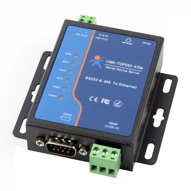 USR TCP232 410S терминальный источник питания RS232 RS485 к TCP/IP преобразователю последовательного сервера Ethernet