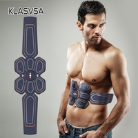 KLASVSA Rechargeable EMS Trainer Abdominal Muscle Stimulator ABS Gel Fitness Pad Slimming Machine Relaxation Health Care Pain
